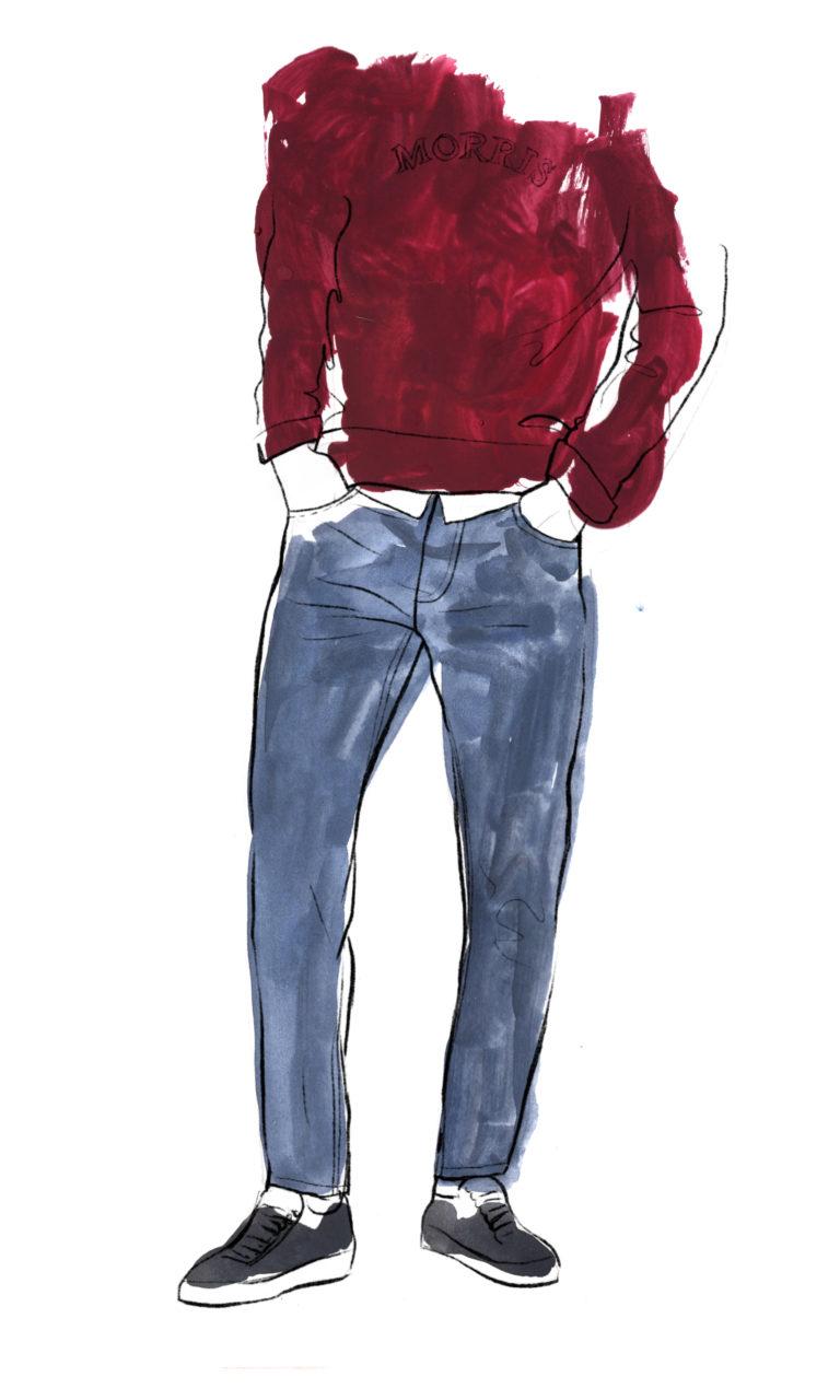 Jeans_gouache